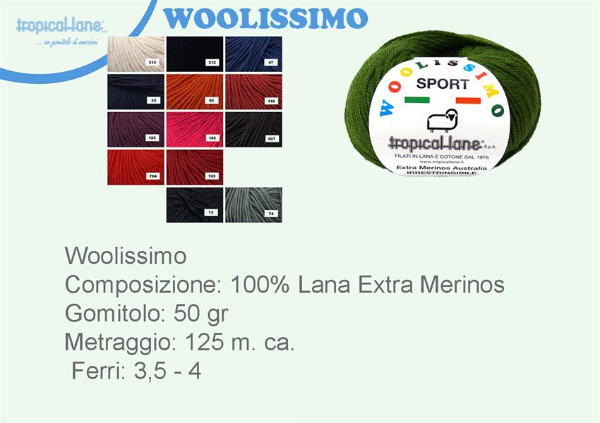 TROPICAL LANE WOOLISSIMO SPORT 185